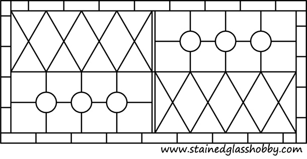 transom free stained glass pattern