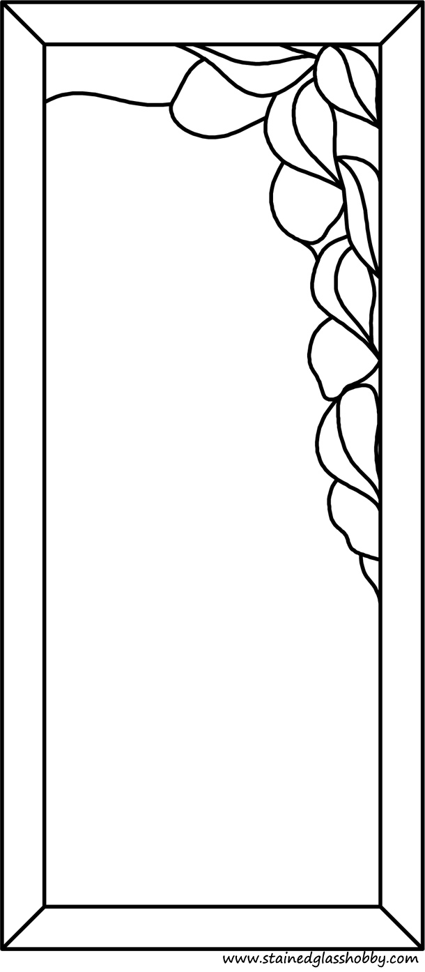 Petals frame stained glass pattern