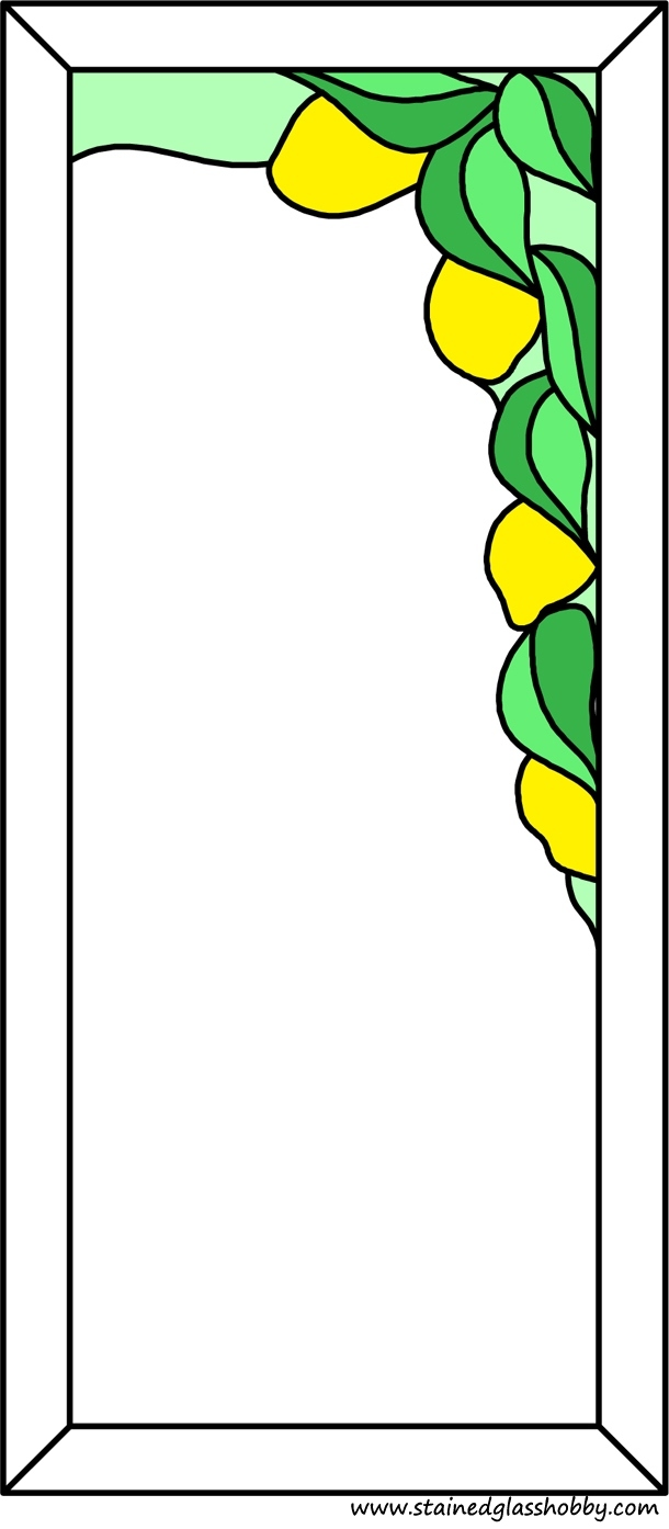 Petals frame stained glass design