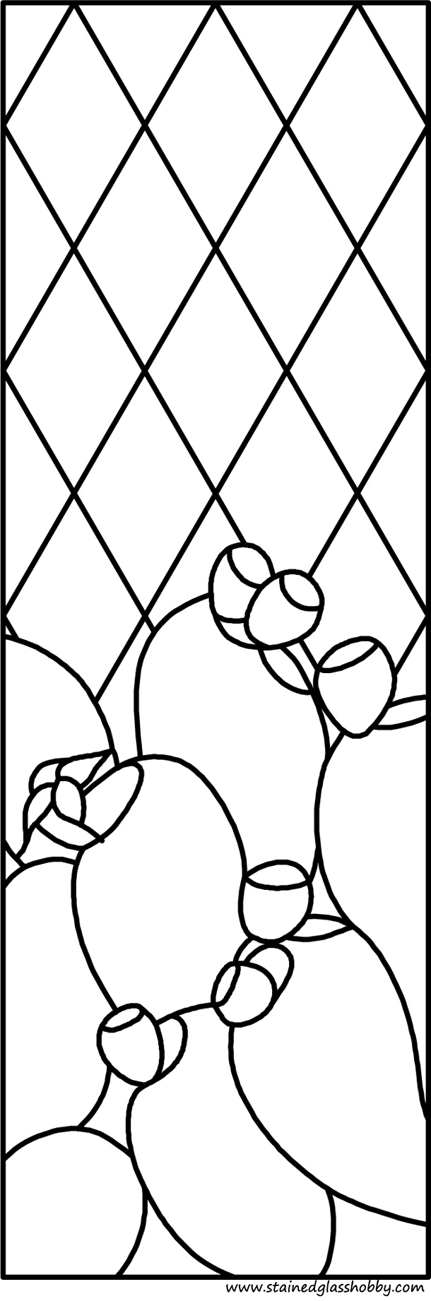 Bajtra panel stained glass pattern
