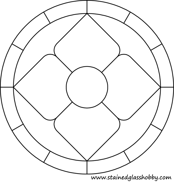 Round pattern stained glass pattern