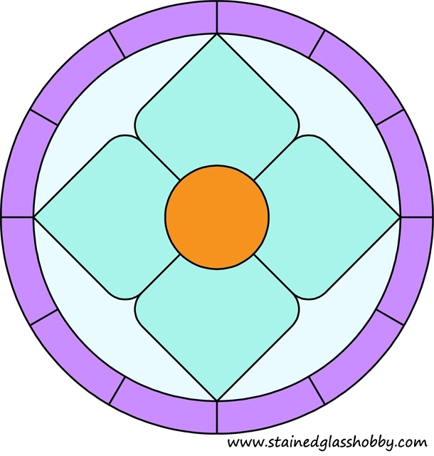 Round pattern stained glass design