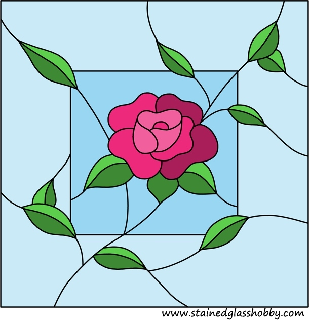 Gallery For gt Simple Stained Glass Rose Pattern