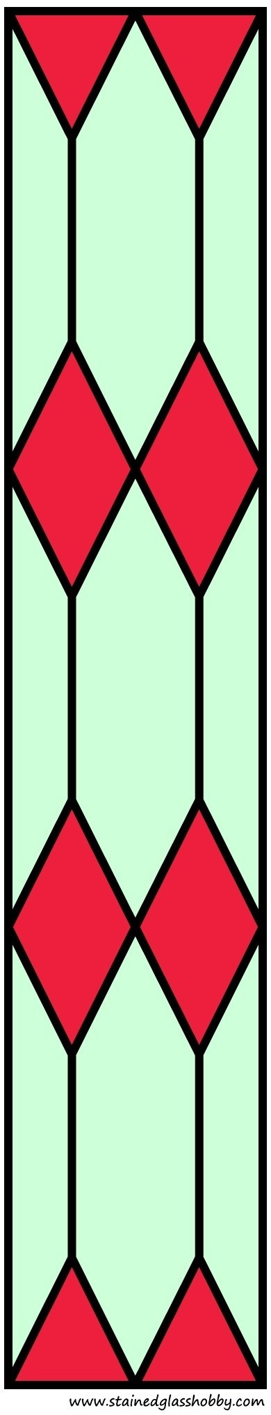 Color stained glass diamond design door panel