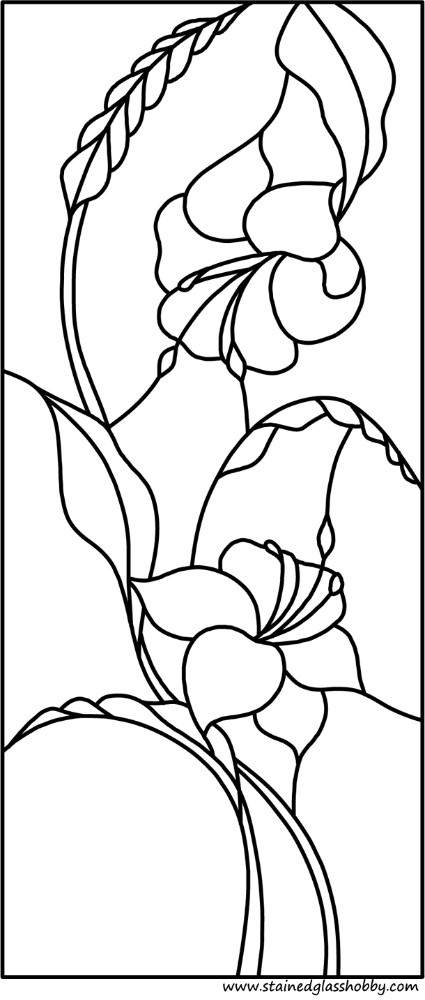 Flower stained glass pattern