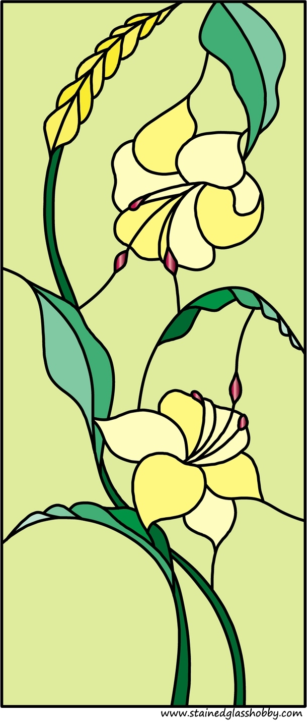 Flower stained glass design