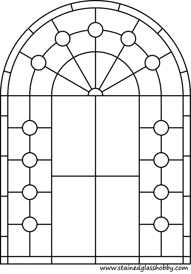 Arch panel for stained glass pattern 1