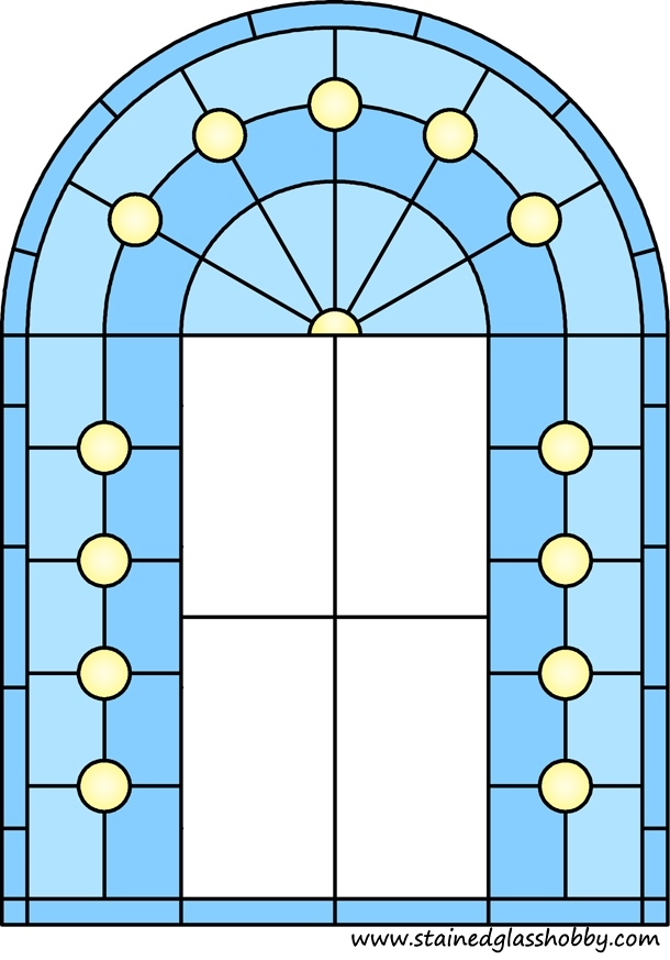 Arch panel for stained glass design 1