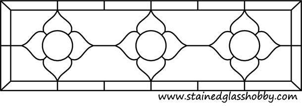 Rectangular panel for stained glass pattern 1