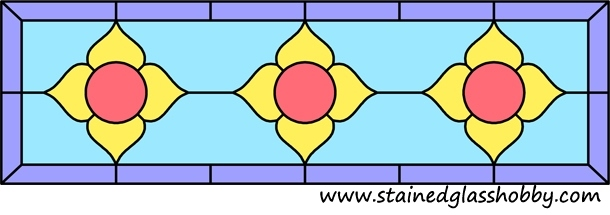 Rectangular panel for stained glass design 1