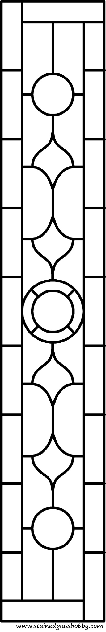 Rectangular panel for stained glass pattern 2