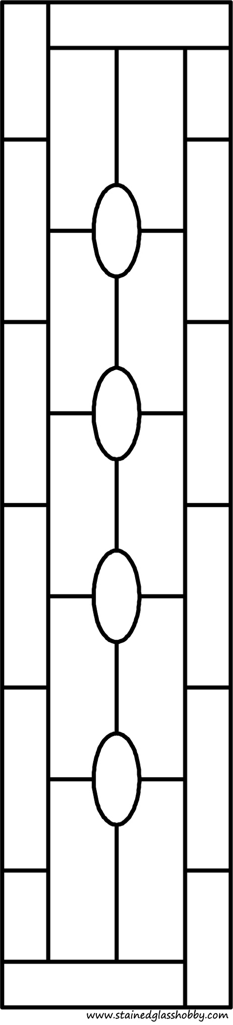Rectangular panel for stained glass pattern 3