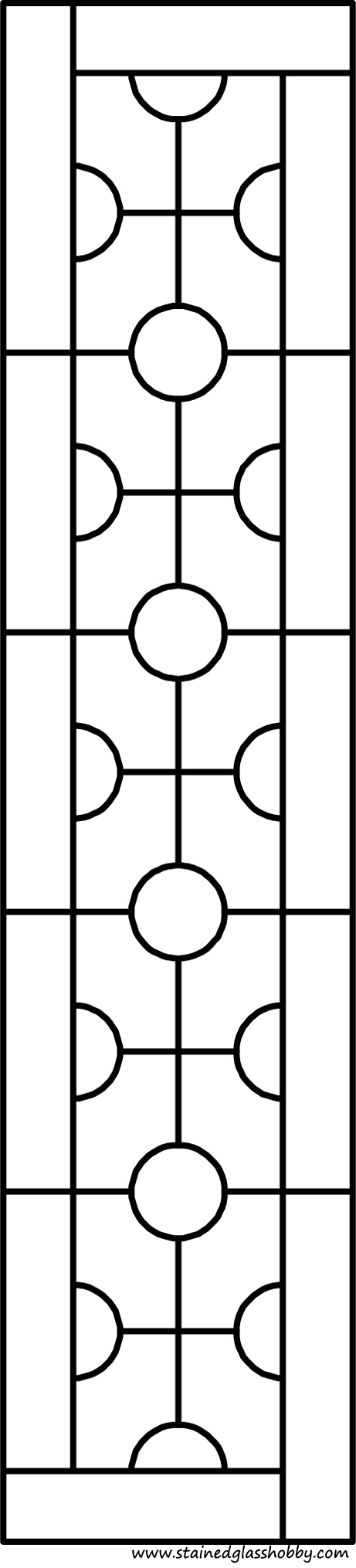 Rectangular panel for stained glass pattern 6