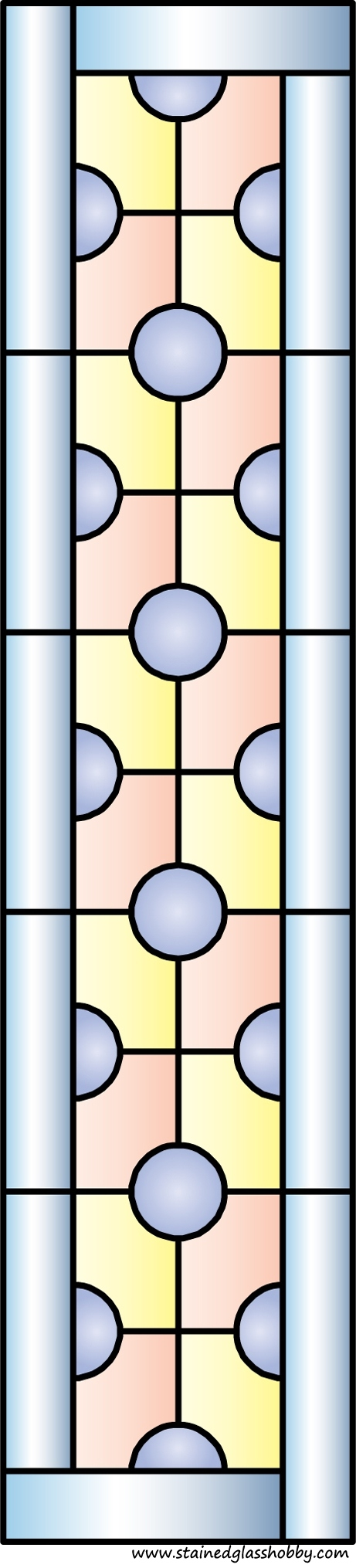 Rectangular panel for stained glass design 6