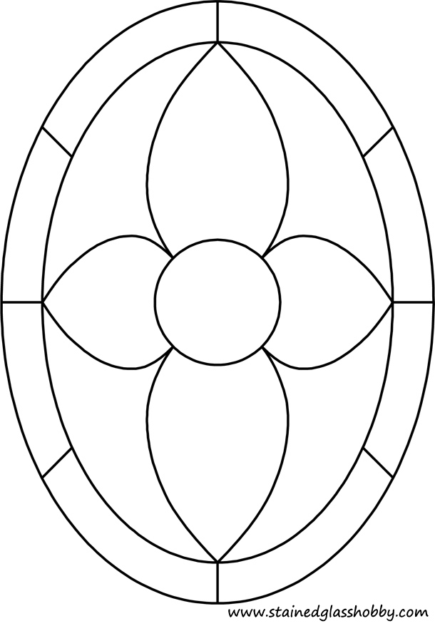 Oval stained glass pattern
