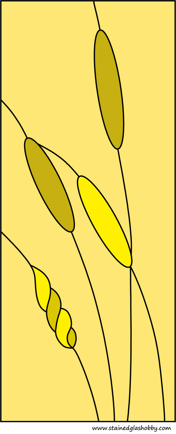 Stained glass wheat panel design