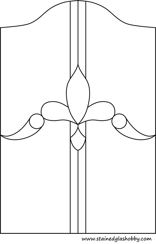 Stained glass design outline