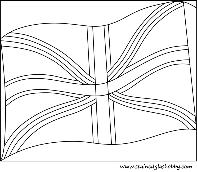 Stained glass design UK outline