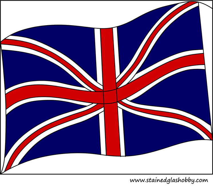 Flag Great Briton stained glass