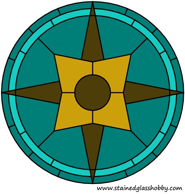 Color star round panel design