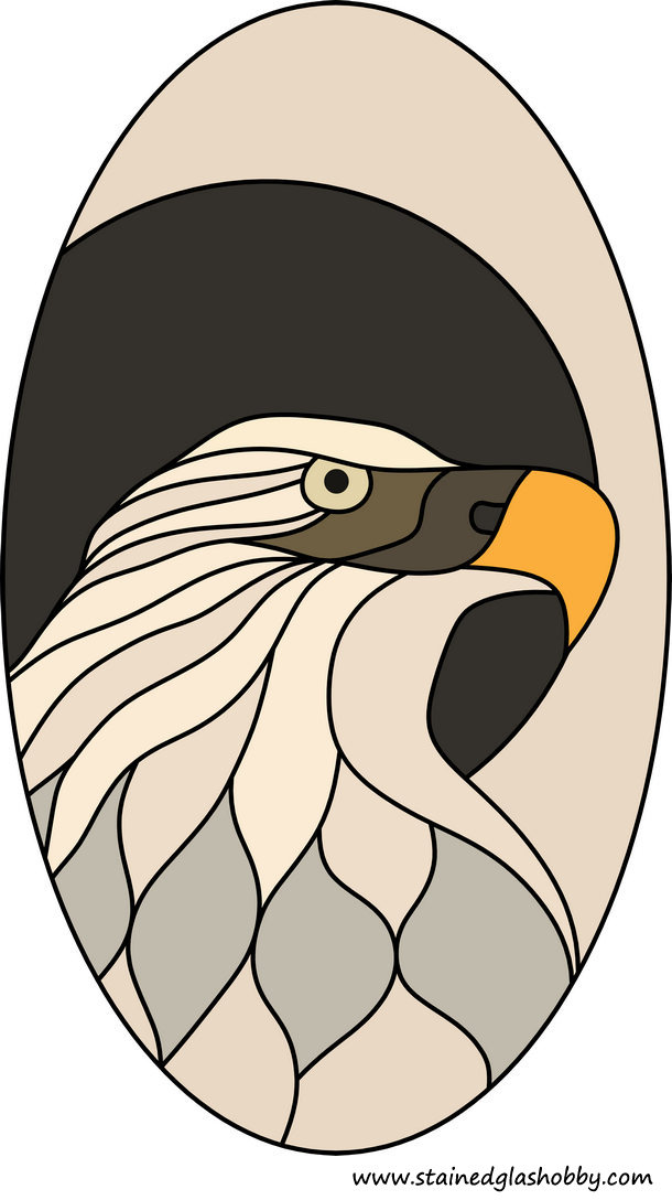 eagle stained glass design