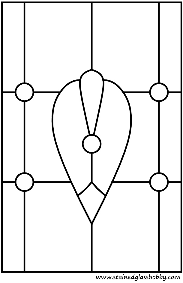 Oriental window glass pattern outline