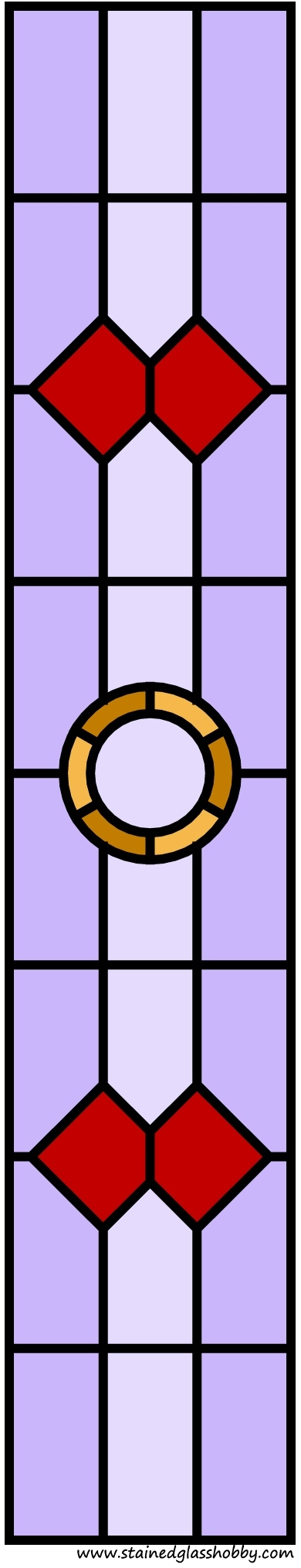 Stained glass doors free pattern