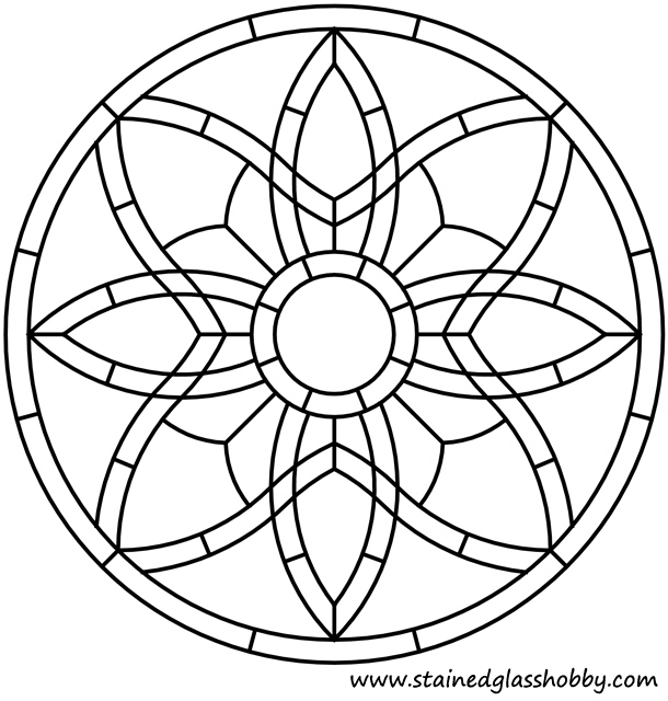 Celt knot design for stain glass