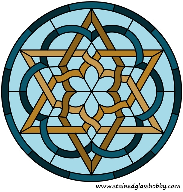 Star round panel Celtic knot design
