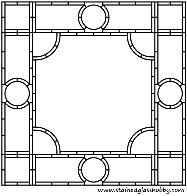 Free stained glass frame border pattern