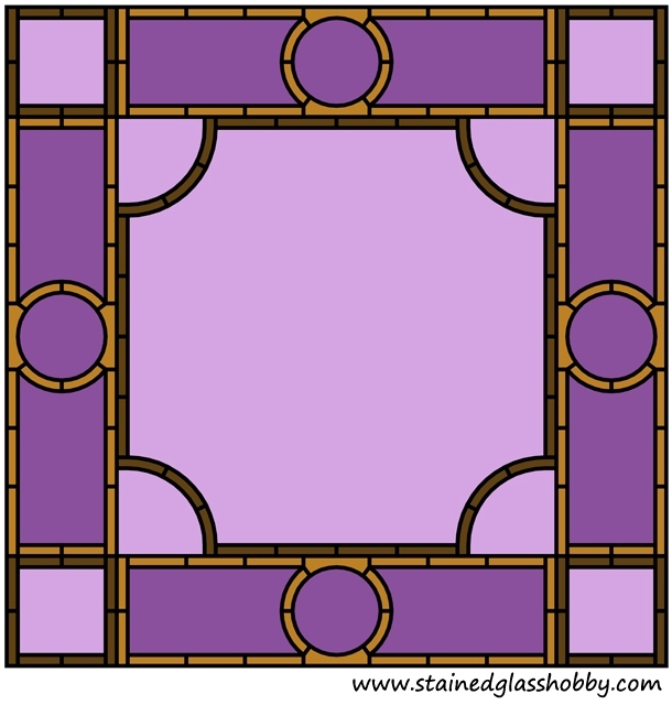 Stained glass frame border design