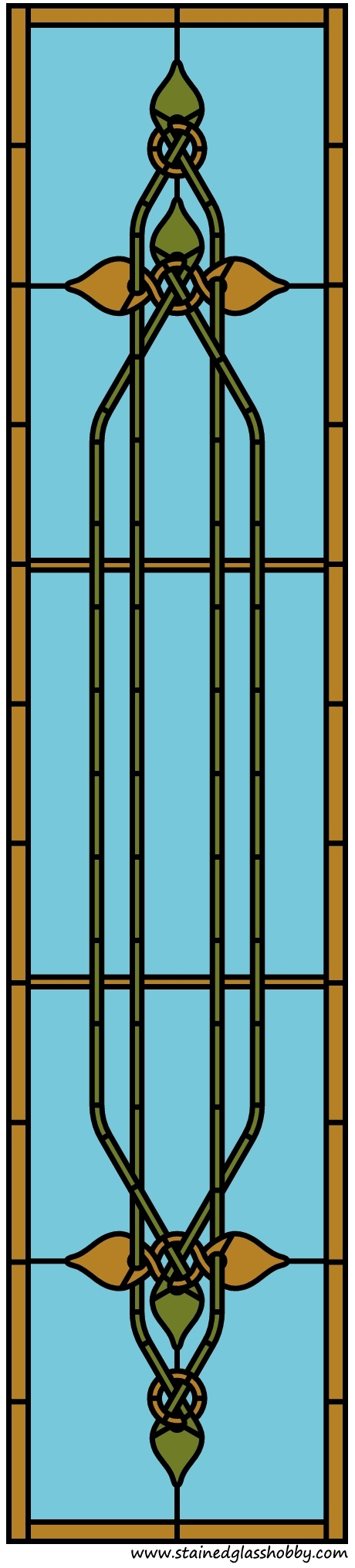 Celt stained glass panel pattern
