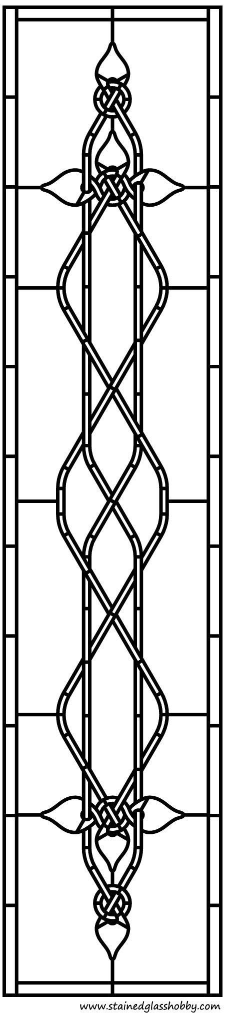 Celtic stained glass design pattern