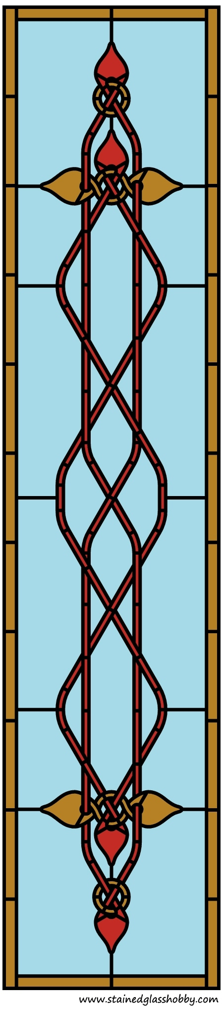 Celtic style stained glass panel