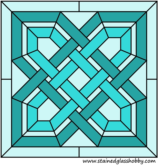 Stained glass square panel