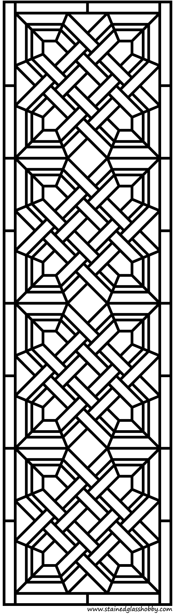 Stained glass door panel design