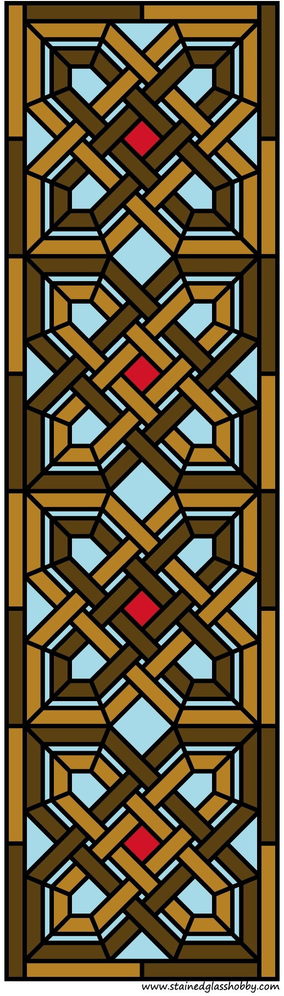 Intricate design stained glass door panel