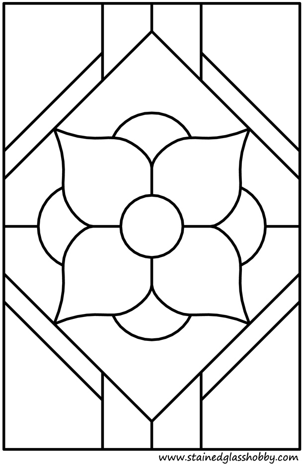 Flower window pattern outline