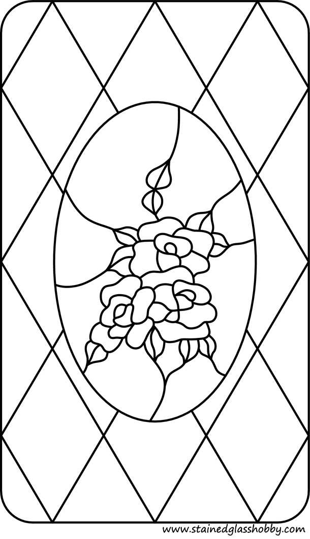 flower roses stained glass