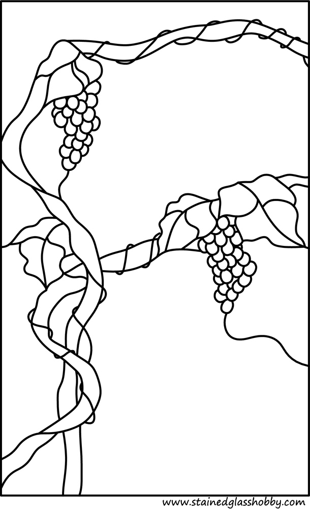 wide grapes window panel design