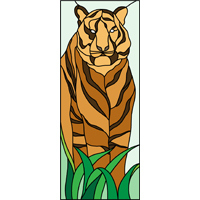 stained glass tiger design