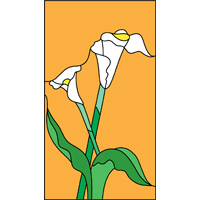 Flower 1 design stained glass