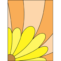 Flower 3 design stained glass