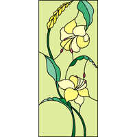 Flower 4 design stained glass