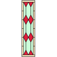 Diamond shape stained glass design 2