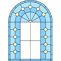 Arch design for stained glass 1
