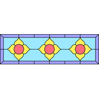 Rectangular panel for stained glass 1