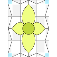 Rectangular stained glass panel