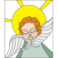 Angel stained glass pattern