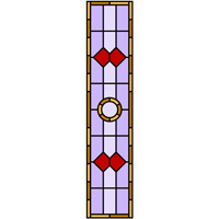 Free stained glass making pattern for door panel